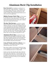 Deck Clip Install