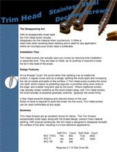 Trim Head Screws